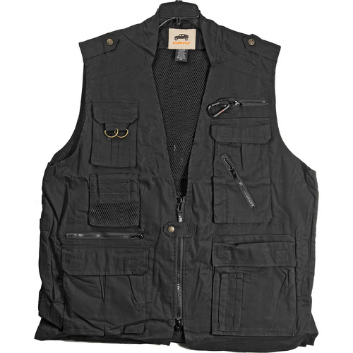 Humvee by CampCo Safari Photo Vest (X-Large, Black)