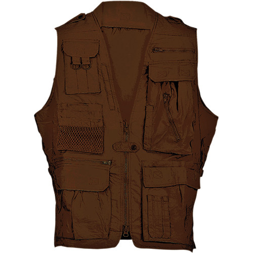 Humvee by CampCo Safari Photo Vest (Large, Brown)