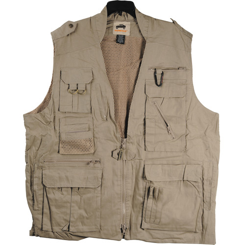 Humvee by CampCo Safari Photo Vest, Large (Khaki)