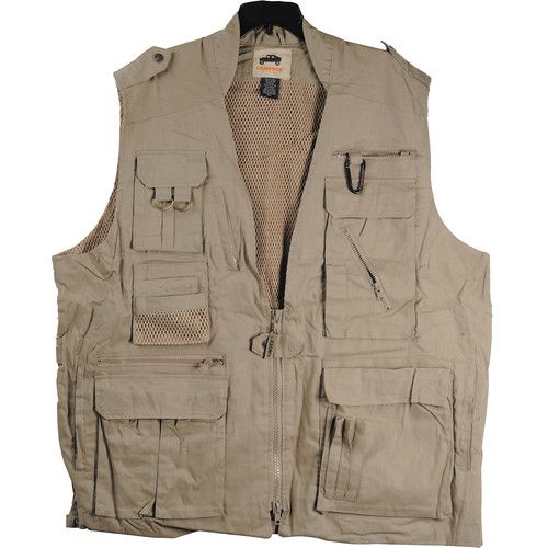 Humvee by CampCo Safari Photo Vest (X-Small, Khaki)