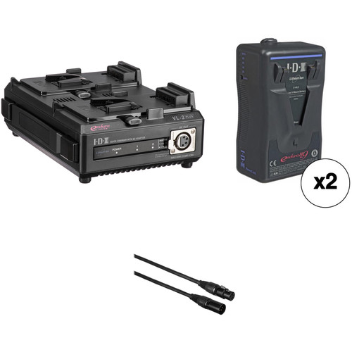 IDX System Technology E-HL9 V-Mount Dual Battery with Charger and XLR Cable Kit