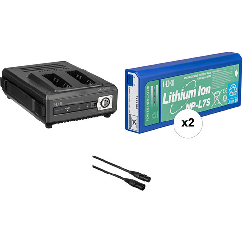 IDX System Technology NPS-722 NP Starter Kit - NPL-7S Batteries, 2 Position Charger/Power Supply, Power Cables