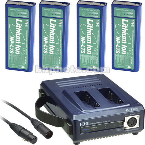 IDX System Technology NPS-742 NP Professional Kit - NPL-7S Batteries, 2 Position Charger/Power Supply, Power Cables