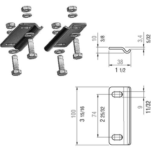 IFF Overhead Rail Clamps