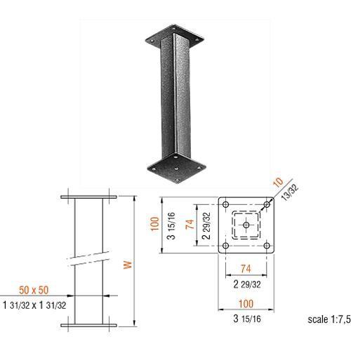 "IFF Extension Bracket 25.6"" (65 cm)"