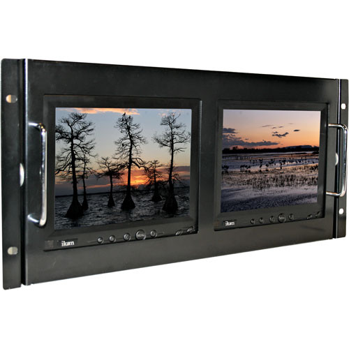 "ikan RM8000F Rack Mount Unit Frame for Dual V8000 8"" Monitors"