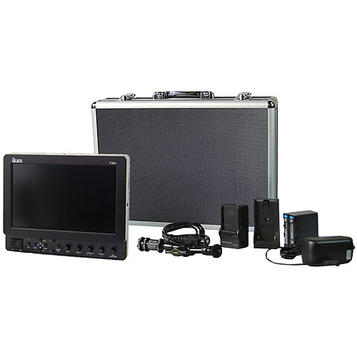 """ikan VX9e 8.9"""" HD-SDI LCD Monitor Deluxe Kit with Sony L Series Battery, Plate, Charger & Case"""