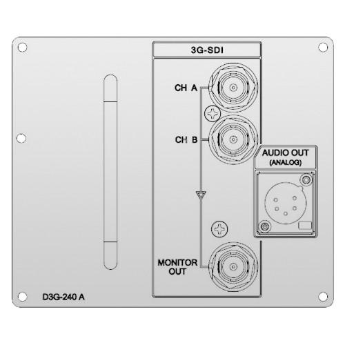 Ikegami D3G-240A 3G-SDI/Analog Audio Input Board