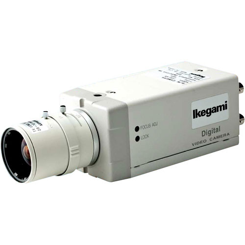 Ikegami KIT-48-ID Multi-Function DSP Monochrome Indoor Camera Kit, includes ICD-48 Camera, 4-12mm Lens, and Mounting Bracket