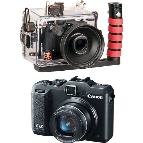 Ikelite 6146.15 Underwater Housing Kit with Canon PowerShot G15 Digital Camera