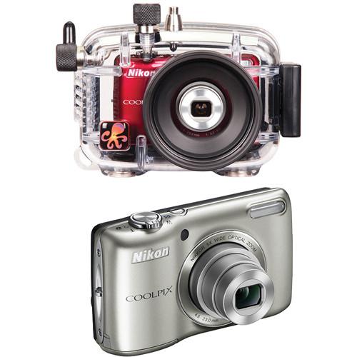 Ikelite 6280.26 Underwater Housing w/ Nikon Coolpix L26 Digital Camera Kit