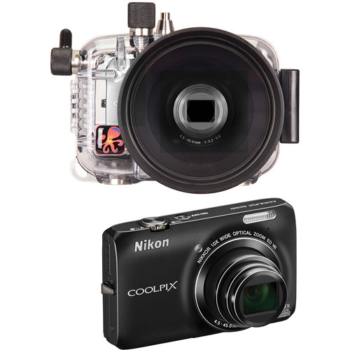 Ikelite 6282.63 Underwater Housing w/ Nikon Coolpix S6300 Digital Camera Kit