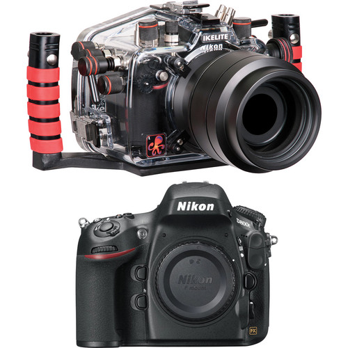 Ikelite 6812.8 Underwater Housing Kit with Nikon D800E Digital SLR Camera Body