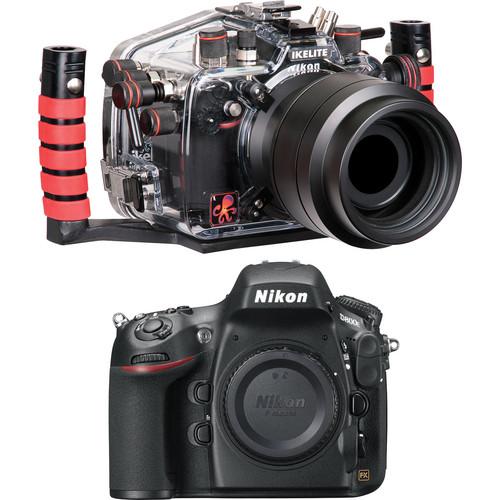Ikelite 6812.8 Underwater Housing Kit with Nikon D800E Digital SLR Camera Body