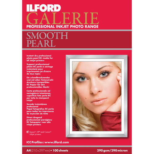 "Ilford Galerie Smooth Pearl Inkjet Photo Paper (4x6"", A6, 100 Sheets)"