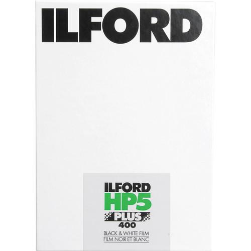 "Ilford HP5 Plus Black and White Negative Film (4 x 10"", 25 Sheets)"