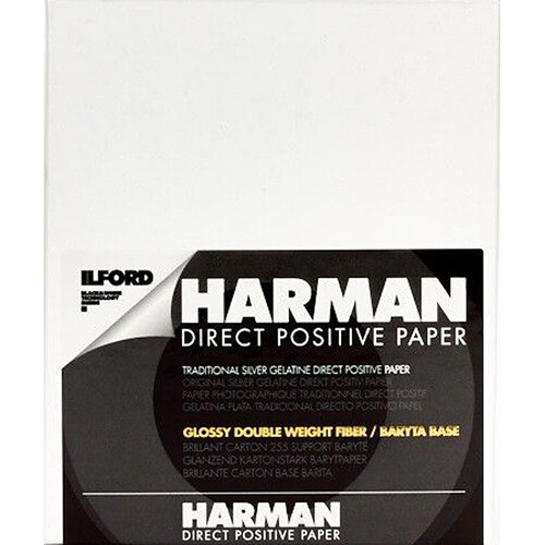 "Ilford Harman Direct Positive Fiber Based (FB) Paper (Glossy, 4 x 5"", 25 Sheets)"