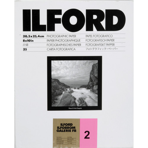"Ilford Ilfobrom Galerie Fiber-Based Paper (8 x 10"", Grade 2, 25 Sheets, Glossy)"