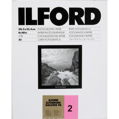 "Ilford ILFOBROM GALERIE FB Paper (Glossy, Grade 2, 8 x 10"", 25 Sheets)"