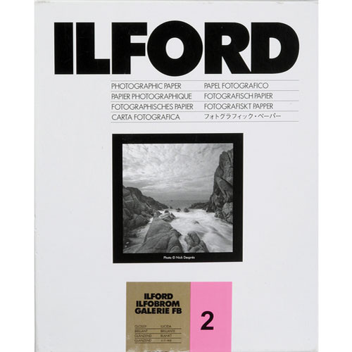 "Ilford Ilfobrom Galerie Fiber-Based Paper (20 x 24"", Grade 2, 10 Sheets, Glossy)"