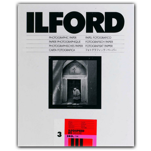 "Ilford ILFOSPEED RC DeLuxe Paper (1M Glossy, Grade 3, 5 x 7"", 25 Sheets)"