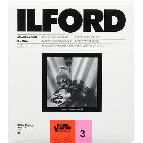 "Ilford ILFOSPEED RC DeLuxe Paper (1M Glossy, Grade 3, 8 x 10"", 25 Sheets)"