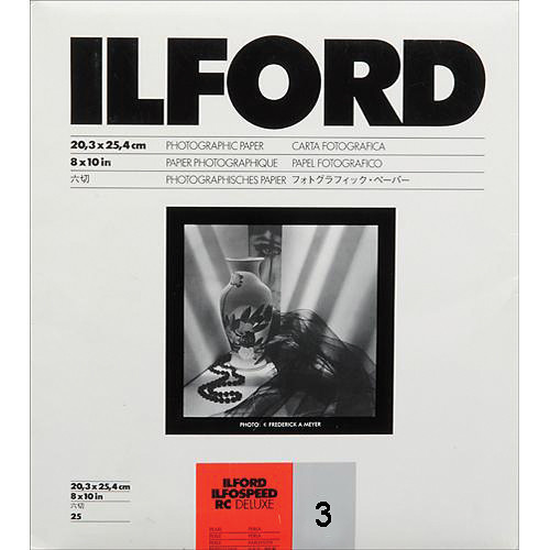"Ilford ILFOSPEED RC DeLuxe Paper (44M Pearl, Grade 3, 8 x 10"", 25 Sheets)"