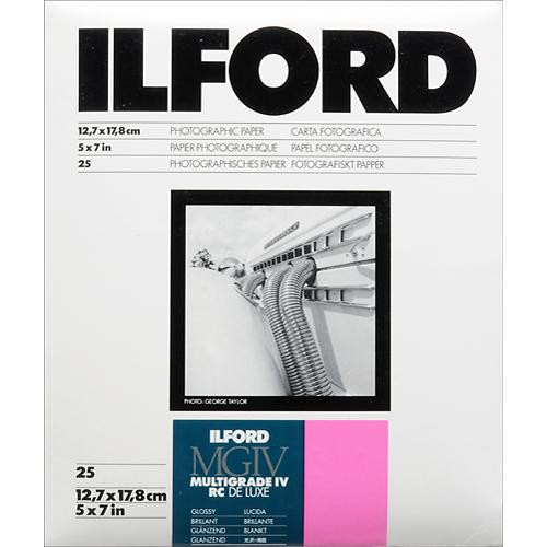 "Ilford Multigrade IV RC Deluxe MGD.1M Black & White Variable Contrast Paper (5 x 7"", Glossy, 25 Sheets)"
