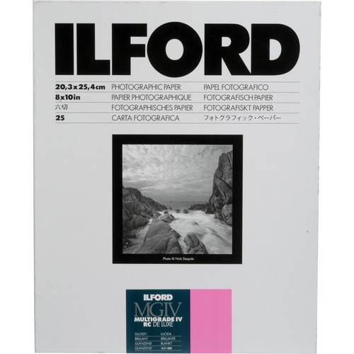 "Ilford Multigrade IV RC DeLuxe Paper (Glossy, 8 x 10"", 25 Sheets)"