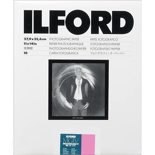 "Ilford Multigrade IV RC DeLuxe Paper (Glossy, 11 x 14"", 10 Sheets)"