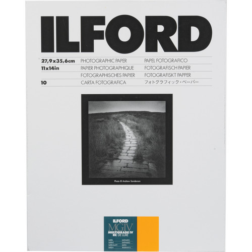 "Ilford Multigrade IV RC DeLuxe Paper (Satin, 11 x 14"", 10 Sheets)"