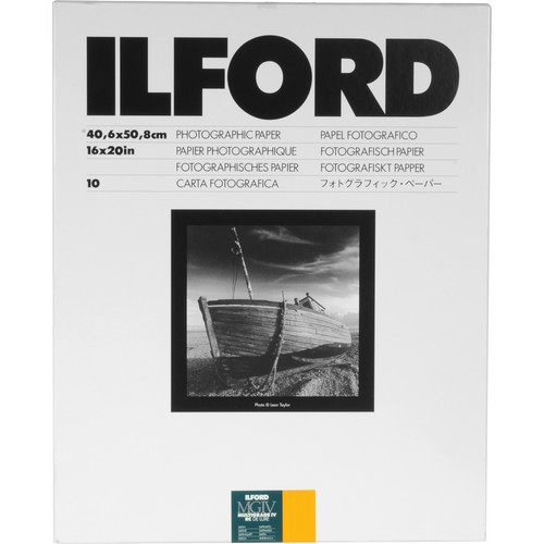"Ilford Multigrade IV RC Deluxe MGD.25M Paper (16x20"", Satin, 10 Sheets)"