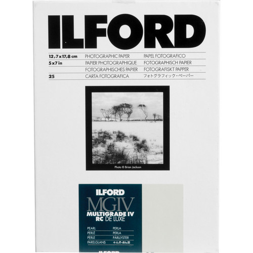 "Ilford Multigrade IV RC Deluxe MGD.44M Black & White Variable Contrast Paper (5 x 7"", Pearl, 25 Sheets)"