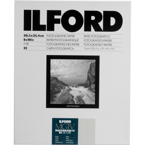 "Ilford Multigrade IV RC Deluxe MGD.44M Black & White Variable Contrast Paper (8 x 10"", Pearl, 25 Sheets)"