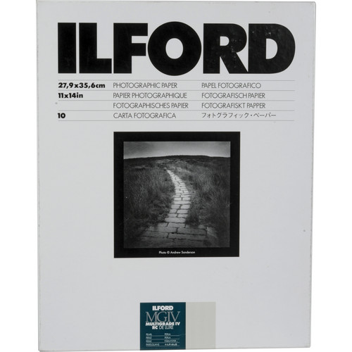 "Ilford Multigrade IV RC Deluxe MGD.44M Black & White Variable Contrast Paper (11 x 14"", Pearl, 10 Sheets)"
