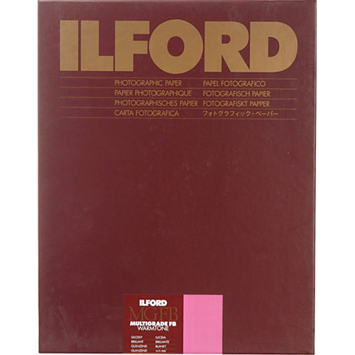 "Ilford Multigrade FB Warmtone Paper (Glossy, 8 x 10"" , 25 Sheets)"