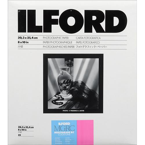Ilford Multigrade Cooltone Resin Coated (RC) Black & White Paper (8 x 10', Glossy, 25 Sheets)