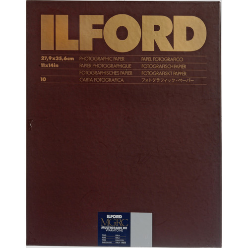 """Ilford Multigrade Warmtone Resin Coated Paper (11 x 14"""", Pearl, 10 Sheets)"""