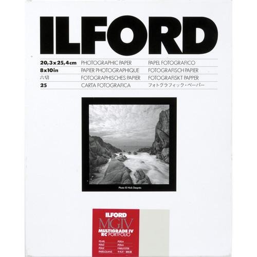 "Ilford Multigrade IV RC Portfolio Black & White Paper (8 x 10"", Pearl, 25 Sheets)"