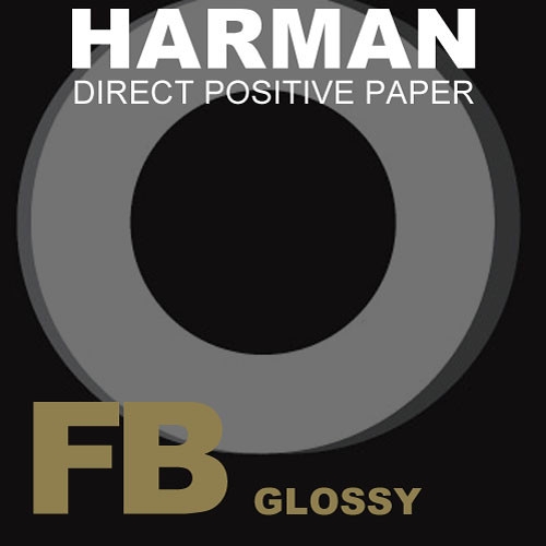 "Ilford Harman Direct Positive Fiber Based (FB) Paper (Emulsion IN, 50"" x 50' Roll)"