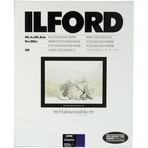 "Ilford Multigrade Art 300 Paper (16 x 20"", 30 Sheets)"