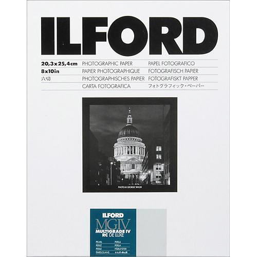 """Ilford Multigrade IV RC Deluxe MGD.44M B&W Paper (8 x 10"""", Pearl, 35 Sheets)"""