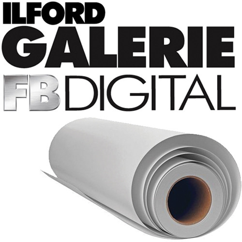 """Ilford Galerie Digital Silver Black and White Photo Paper (30"""" x 98' Roll, Glossy)"""