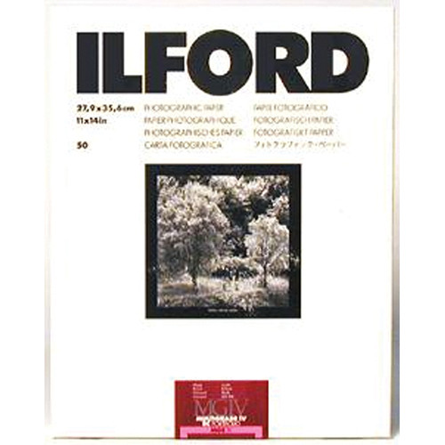 "Ilford Multigrade IV RC Portfolio Black & White Paper (11 x 14"", Glossy, 50 Sheets)"