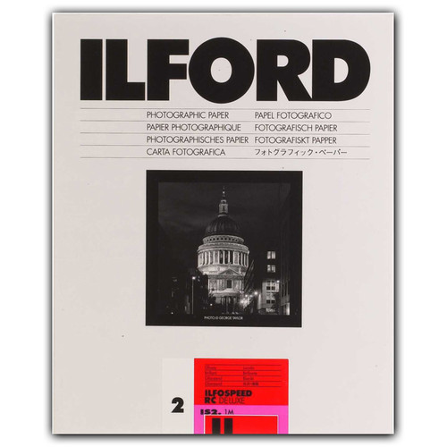 """Ilford ILFOSPEED RC DeLuxe Paper (1M Glossy, Grade 2, 5 x 7"""", 100 Sheets)"""