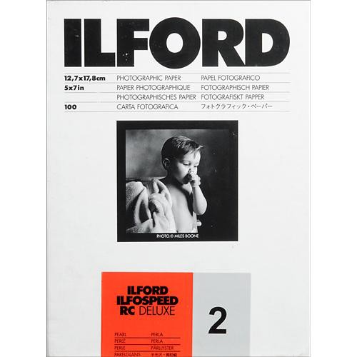 "Ilford ILFOSPEED RC DeLuxe Paper (44M Pearl, Grade 2, 5 x 7"", 100 Sheets)"