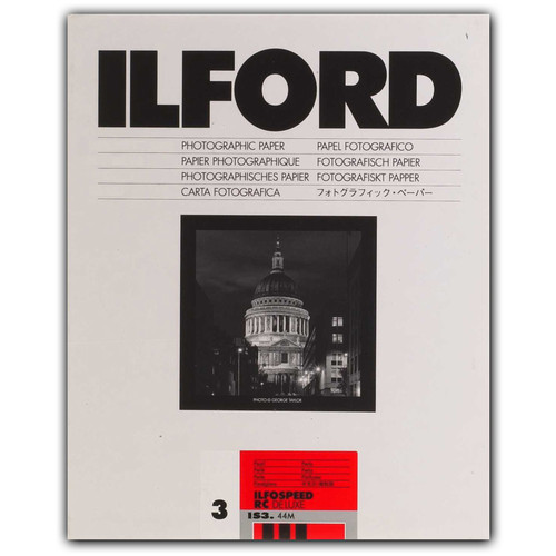 "Ilford ILFOSPEED RC DeLuxe Paper (44M Pearl, Grade 3, 5 x 7"", 100 Sheets)"