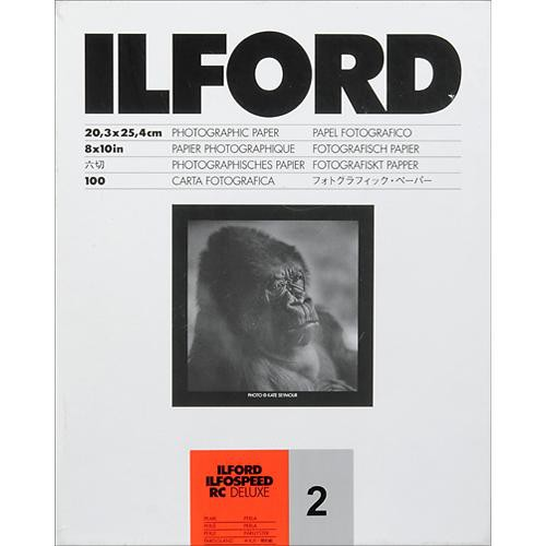 "Ilford ILFOSPEED RC DeLuxe Paper (44M Pearl, Grade 2, 8 x 10"", 100 Sheets)"
