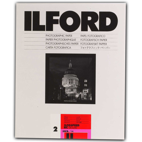 "Ilford ILFOSPEED RC DeLuxe Paper (1M Glossy, Grade 2, 8 x 10"", 250 Sheets)"
