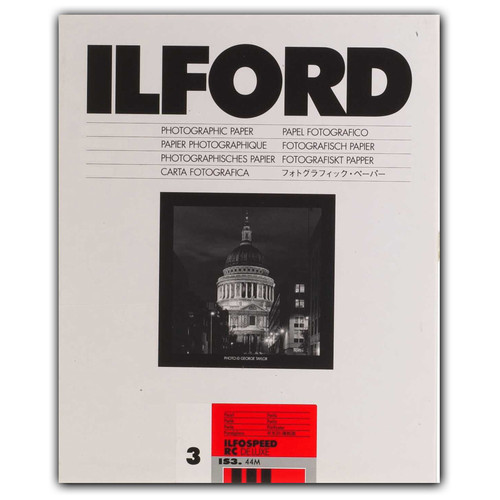"Ilford ILFOSPEED RC DeLuxe Paper (44M Pearl, Grade 3, 8 x 10"", 250 Sheets)"